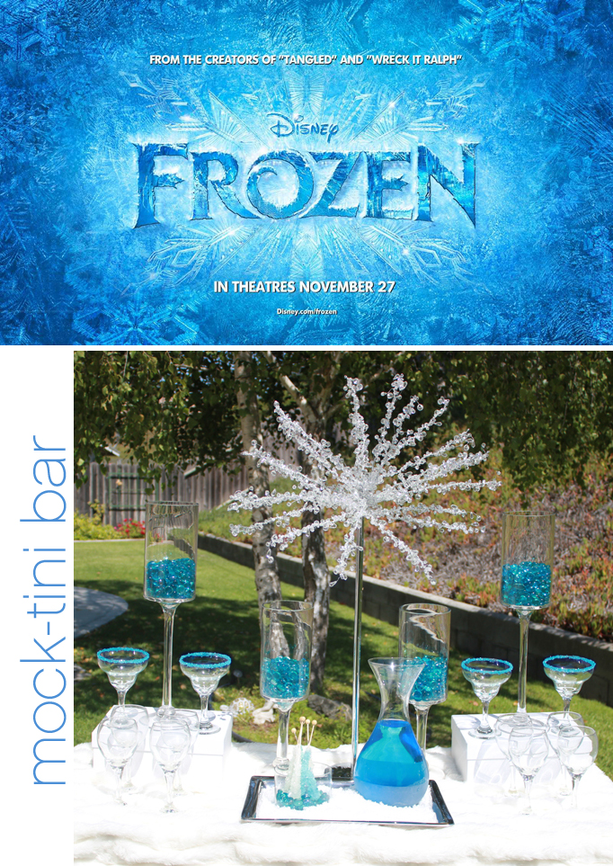Frozen Party Ideas – Frozen Mock-tini Drinks Bar