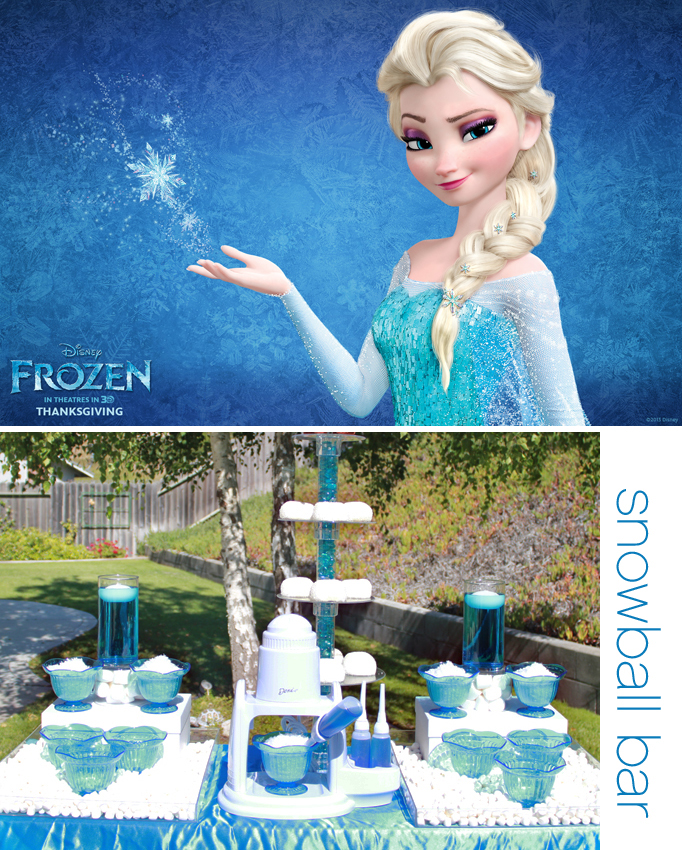 Frozen Party Ideas Week – Snowball Bar!