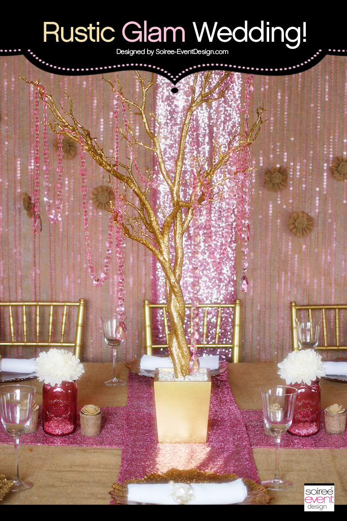 Trend Alert: Rustic Glam Pink & Gold Wedding