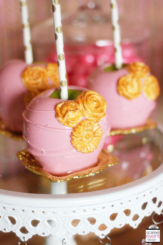 pink-gold-candy-apples-vintage