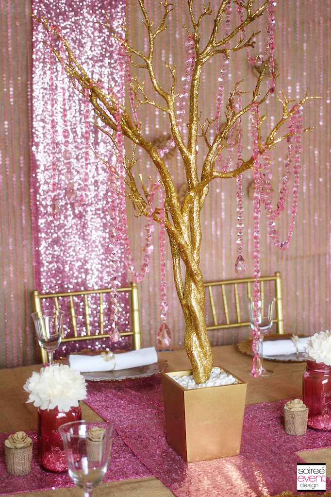Trend Alert Rustic Glam Pink Gold Wedding Soiree Event Design