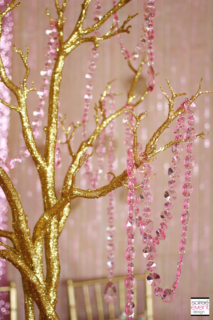 Trend Alert Rustic Glam Pink Amp Gold Wedding Soiree