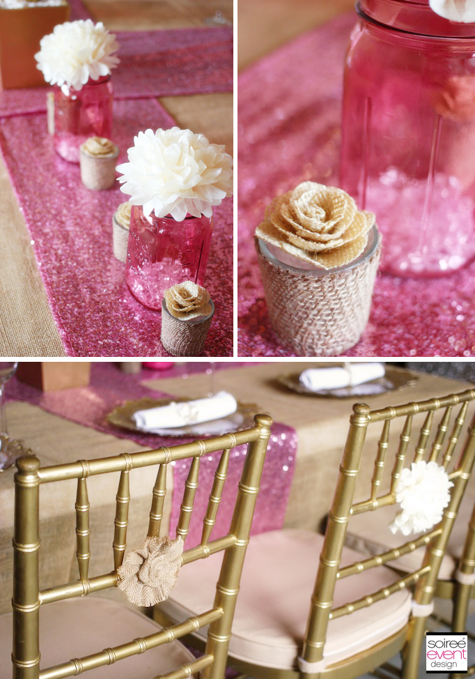 trend alert rustic glam pink gold wedding soiree event design. Black Bedroom Furniture Sets. Home Design Ideas