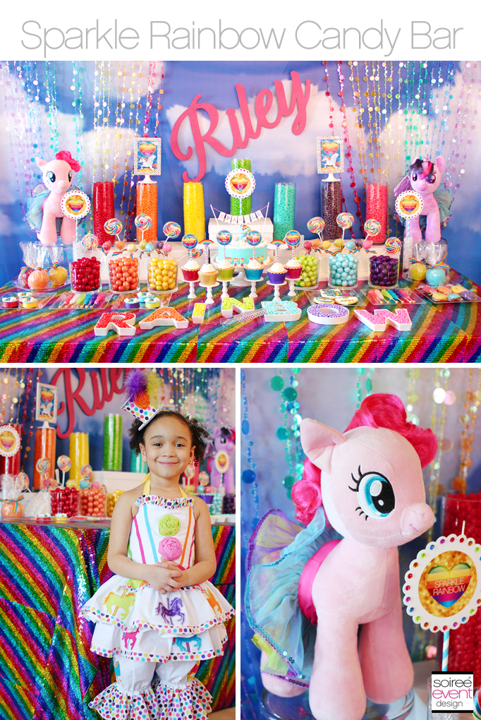 Sparkle Rainbow Candy Table – My Little Pony party theme