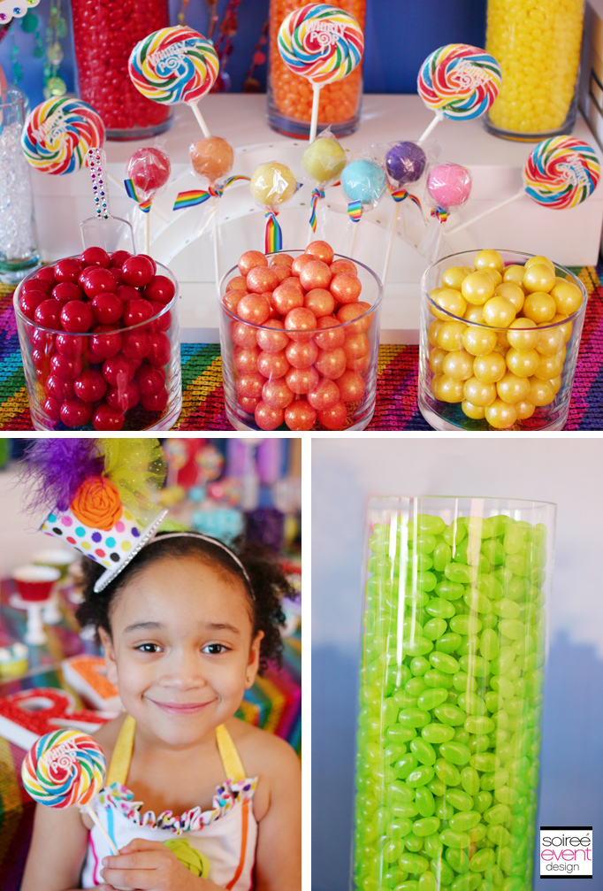 Sparkle Rainbow Candy Table My Little Pony Party Theme Soiree Event Design
