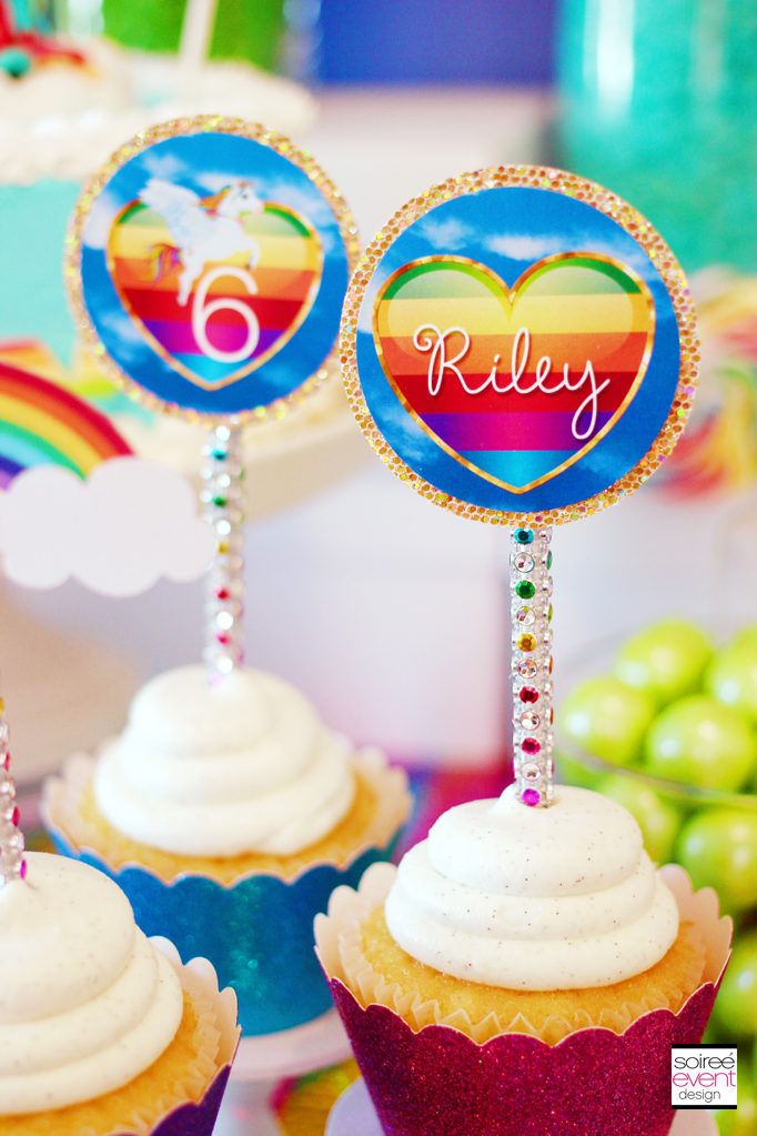 rainbow-bling-cupcake-toppers