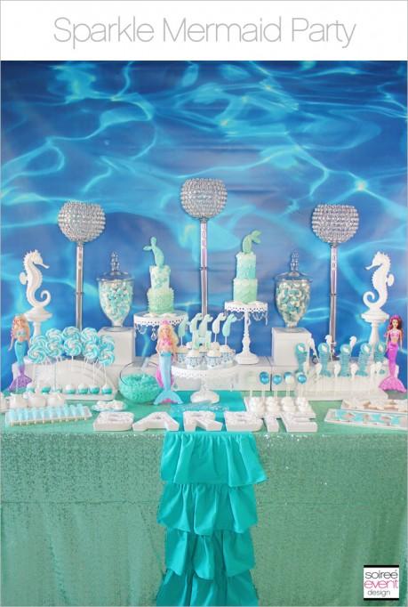 Sparkle Mermaid Party – Part 1 + Barbie Giveaway!