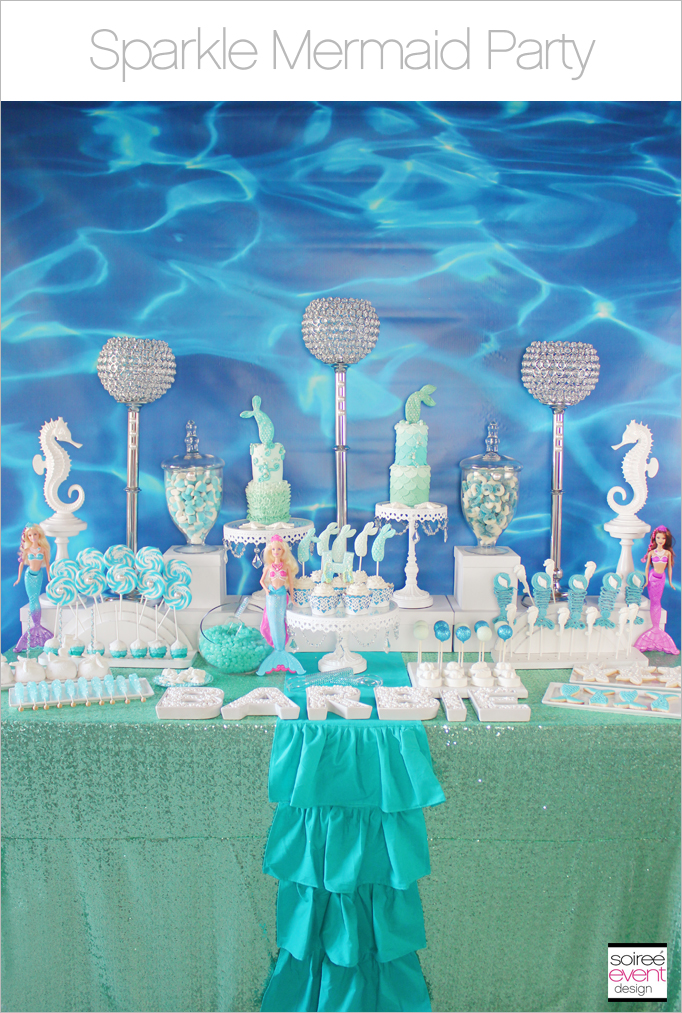 Sparkle Mermaid Party Part 1 Barbie Giveaway Soiree