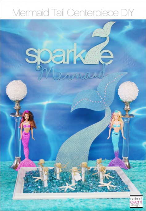 How to Make a Mermaid Tail Centerpiece!