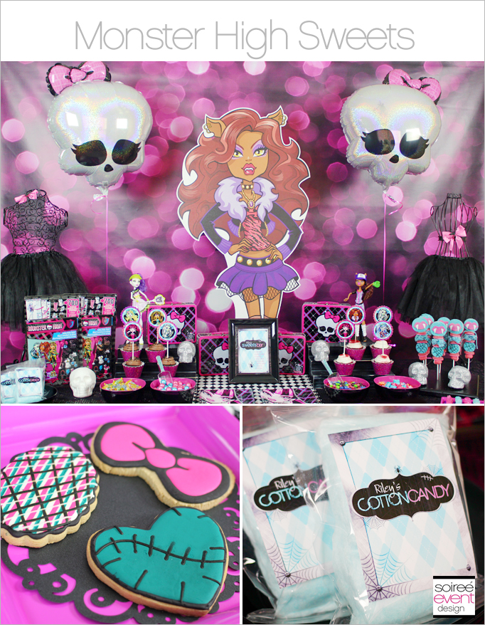 Monster High Sweets Table Main