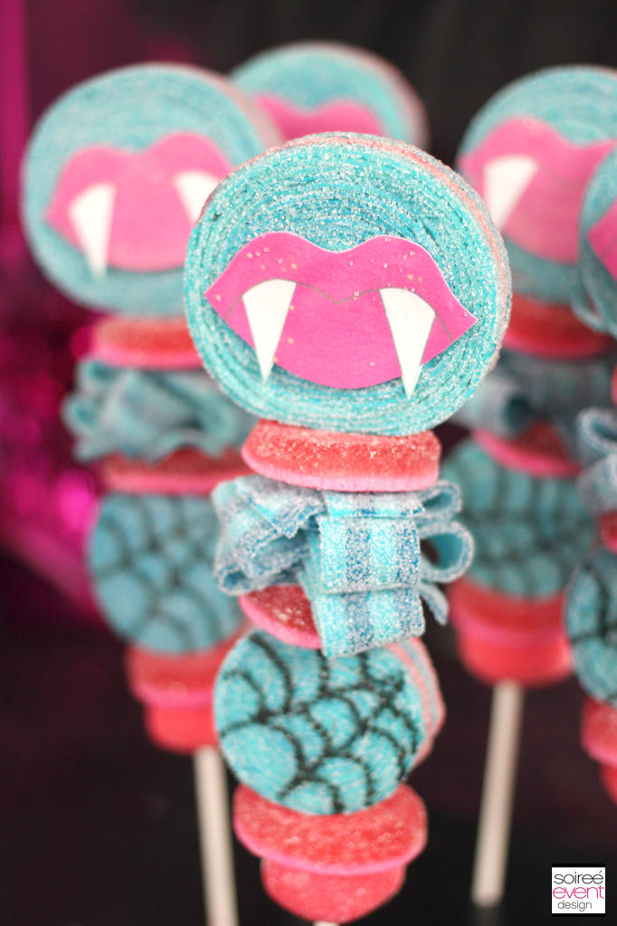 Monster High candy kabobs