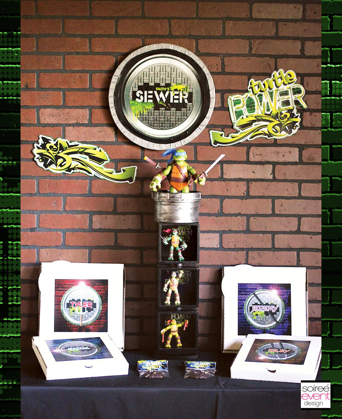 Teenage mutant ninja turtles party soiree event design for Tmnt decorations