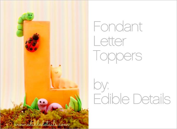 Edible details fondant toppers