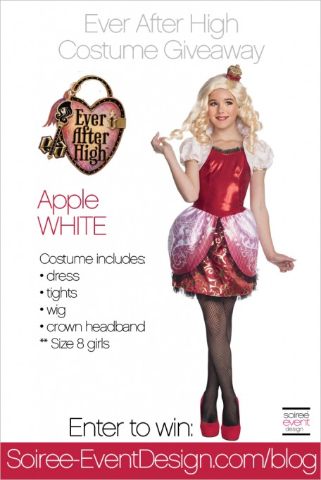 Giveaway:  Apple White Ever After High Costume