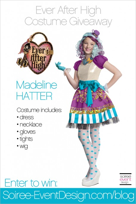 Giveaway: Ever After High Madeline Hatter Costume