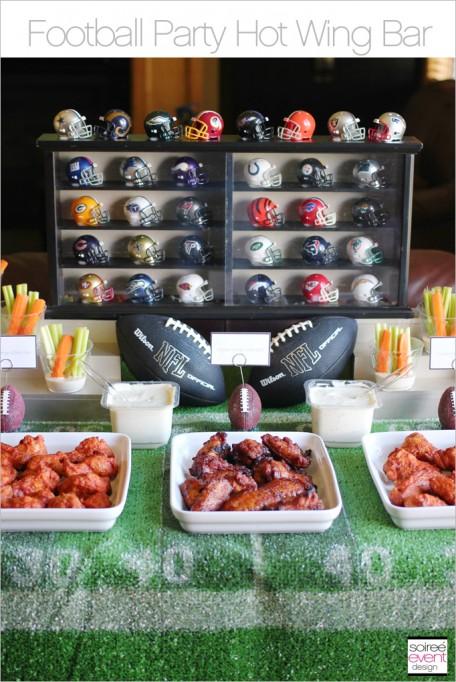 Football Party Hot Wing Bar!