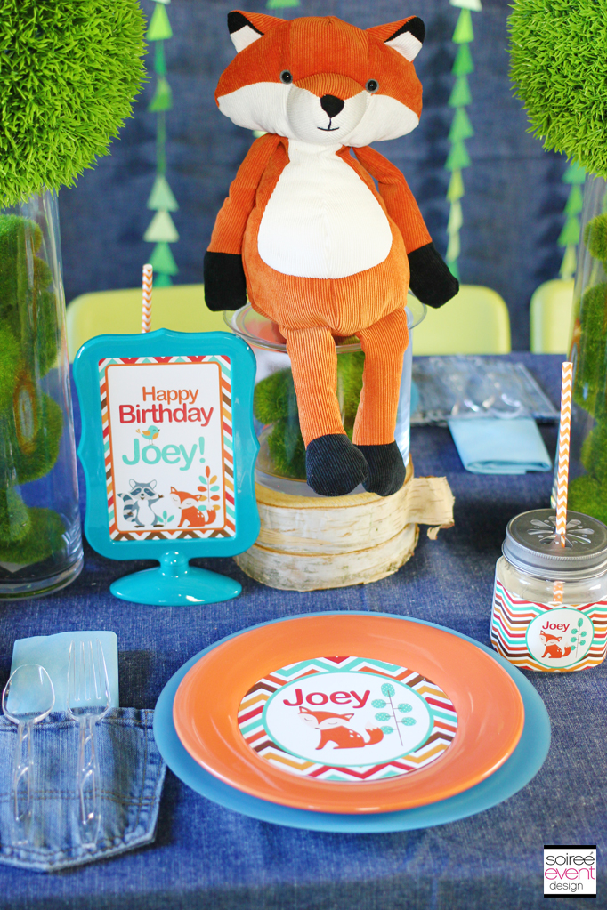 Fox party plates