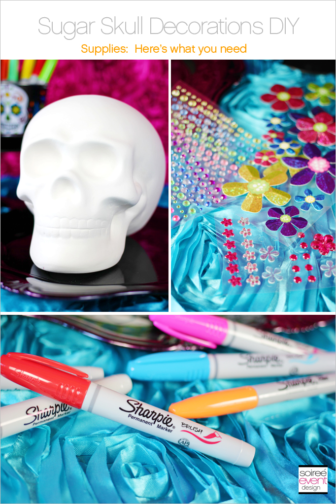 Decorate Your Own Day Of The Dead Sugar Skulls Soiree Event Design