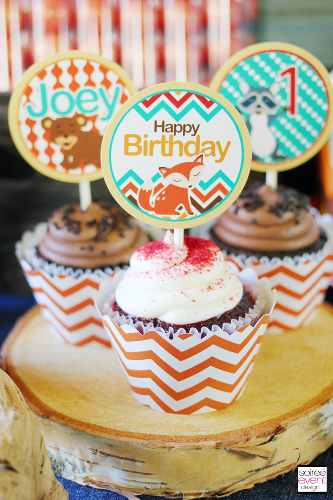 fox cupcake toppers