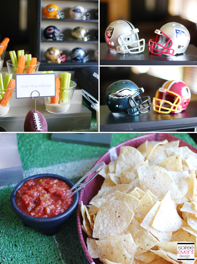 Football Party Hot Wing Bar Soiree Event Design