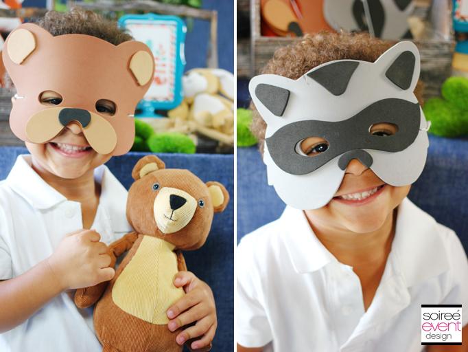 woodland animal party masks
