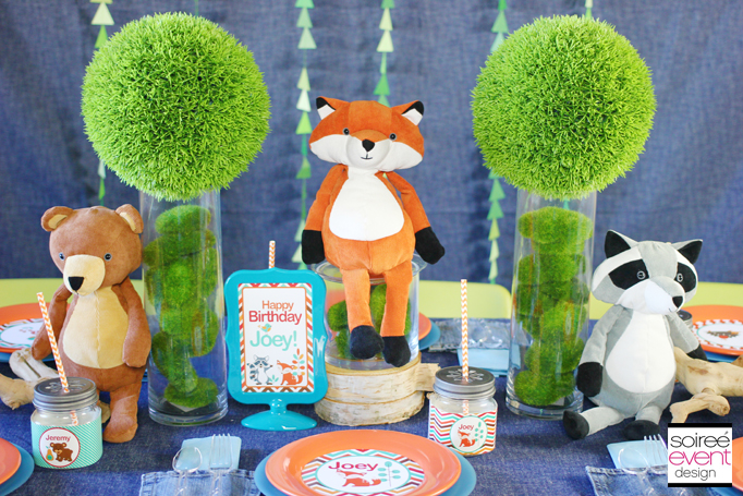 woodland animals birthday party