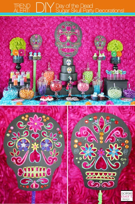 How to Make Day of the Dead Sugar Skulls Party Decorations!