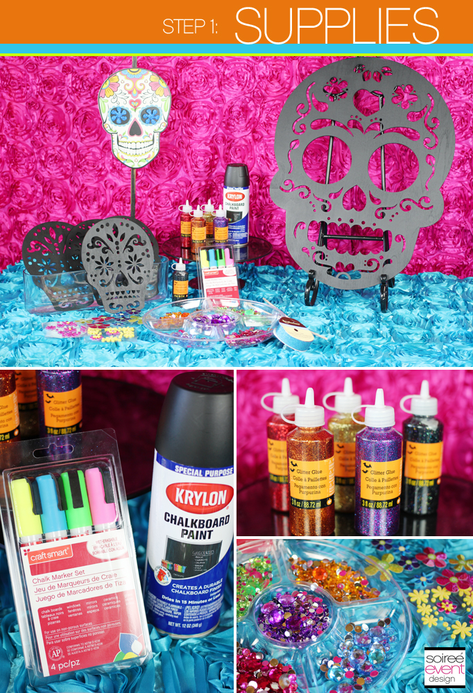 Diy how to make day of the dead sugar skull party - Sugar skull decorating ideas ...