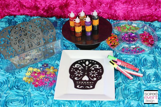 Sugar skull craft supplies