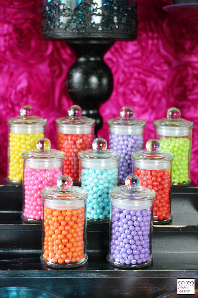 candy jars black stand