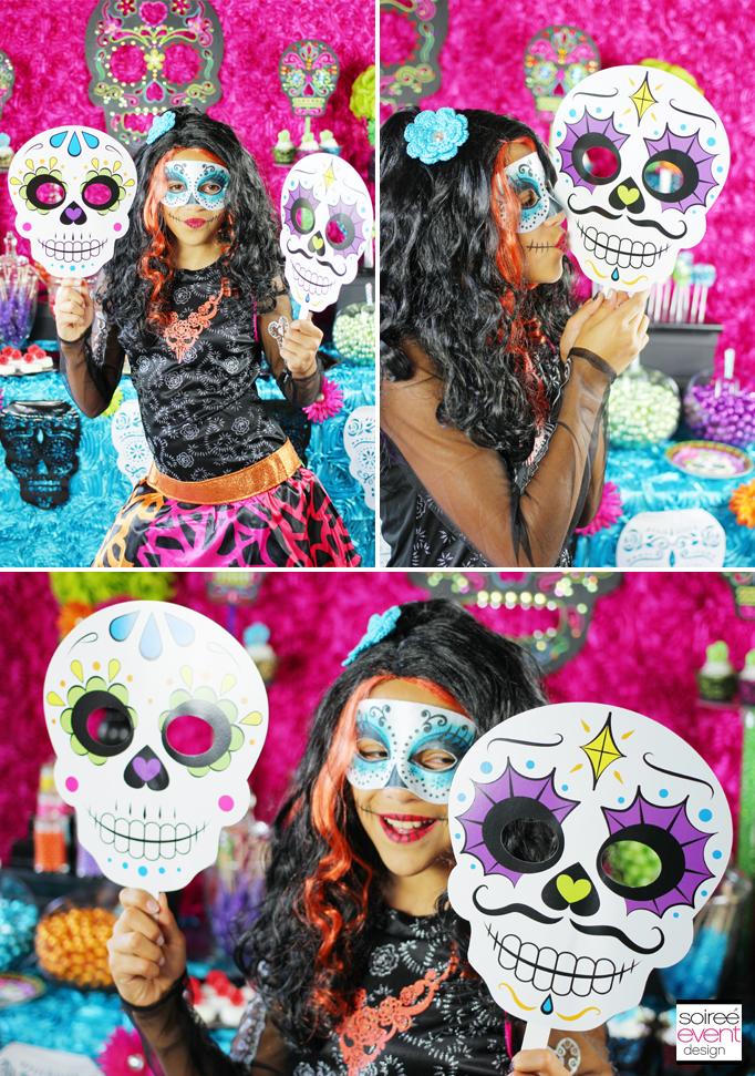 day of dead sugar skull photo props