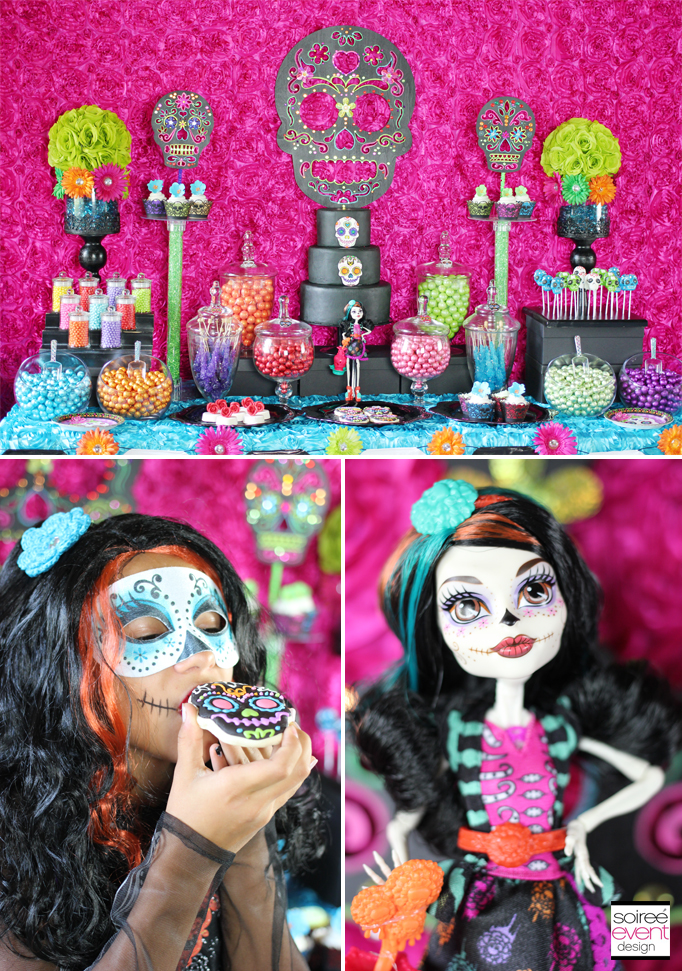 day of the dead candy table
