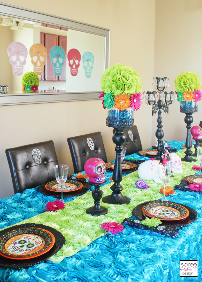 Day of the Dead Party Week Soiree Event Design : day of the dead dining table decor from soiree-eventdesign.com size 682 x 953 jpeg 807kB