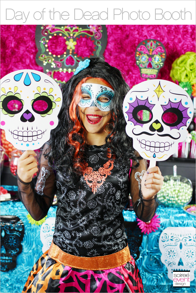Day Of The Dead Party Photo Booth Soiree Event Design