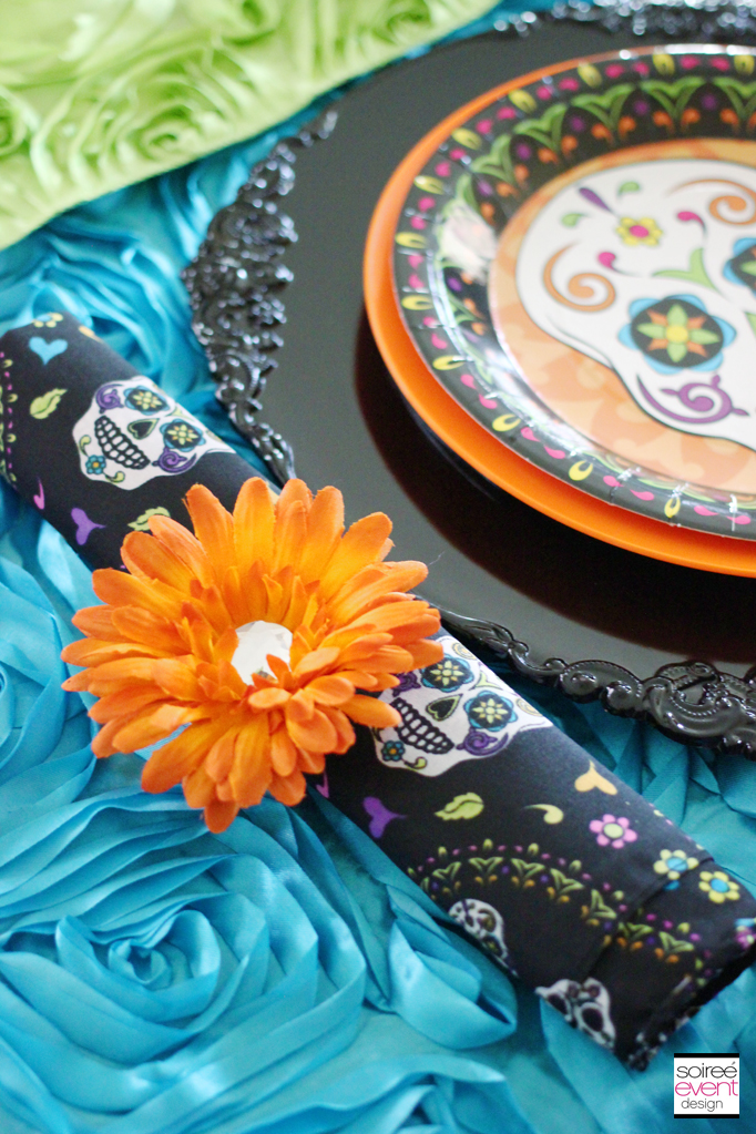 day of the dead placesetting