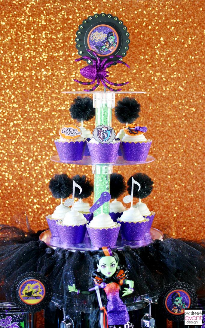 glitter tutu cupcake stand