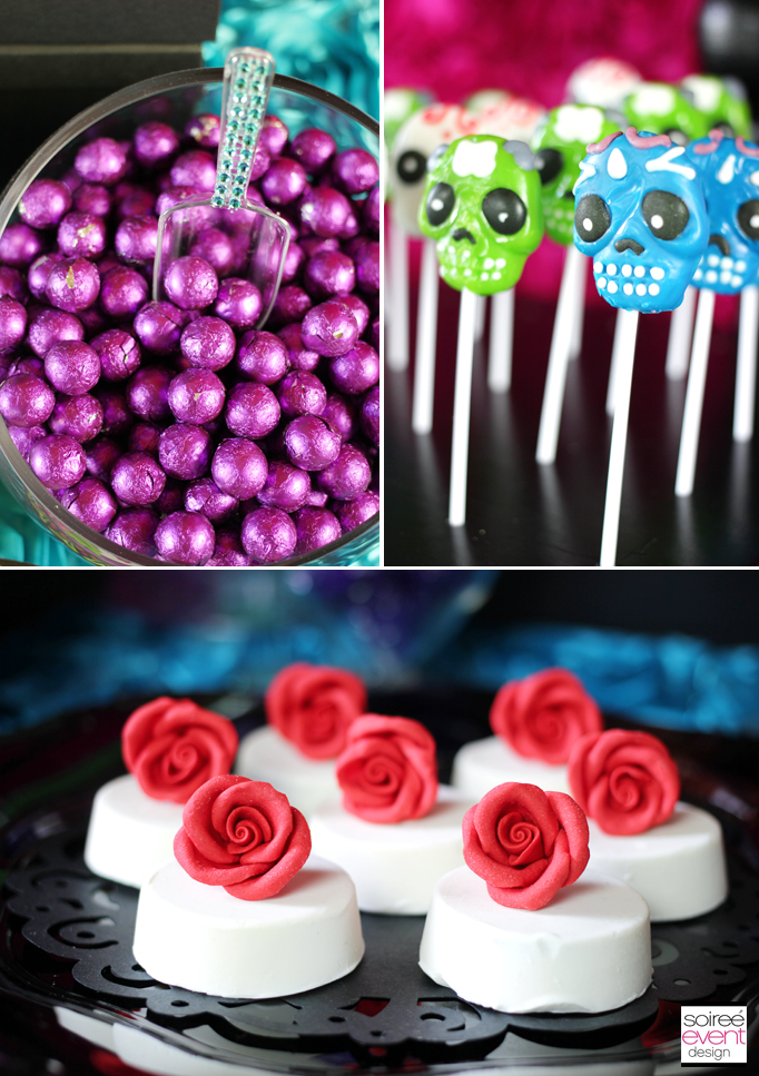 sugar skull lollipops