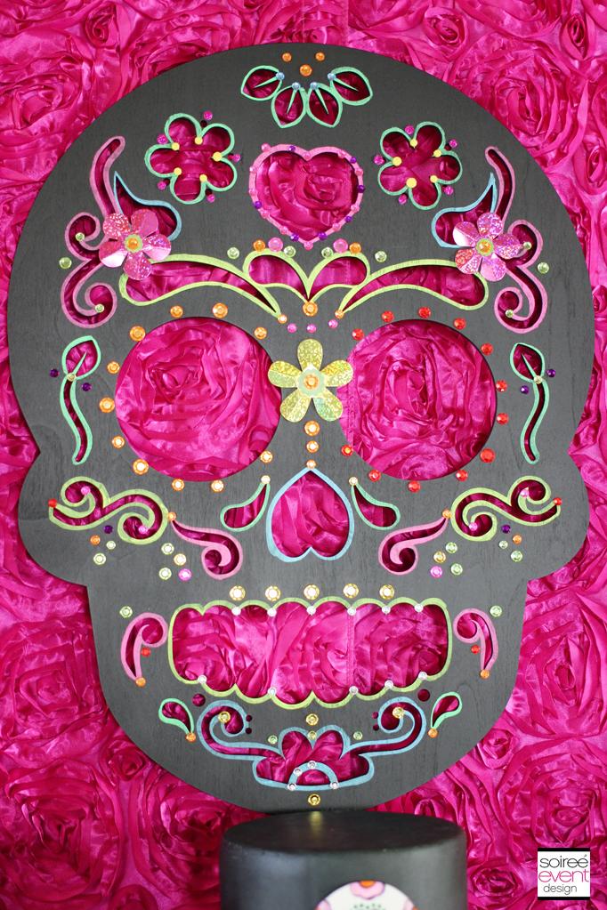 sugar skull wood cutout