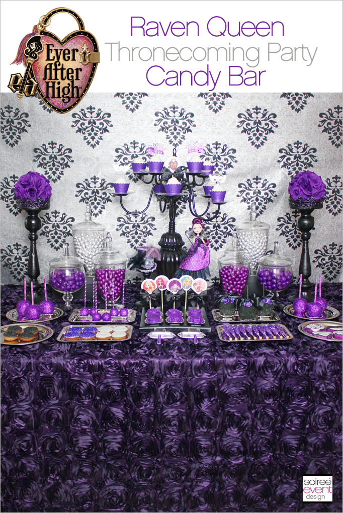 Raven Queen Party Candy Table