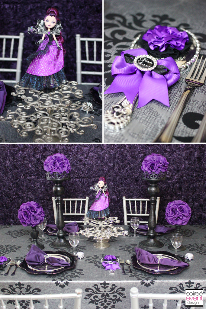Raven Queen party decorations