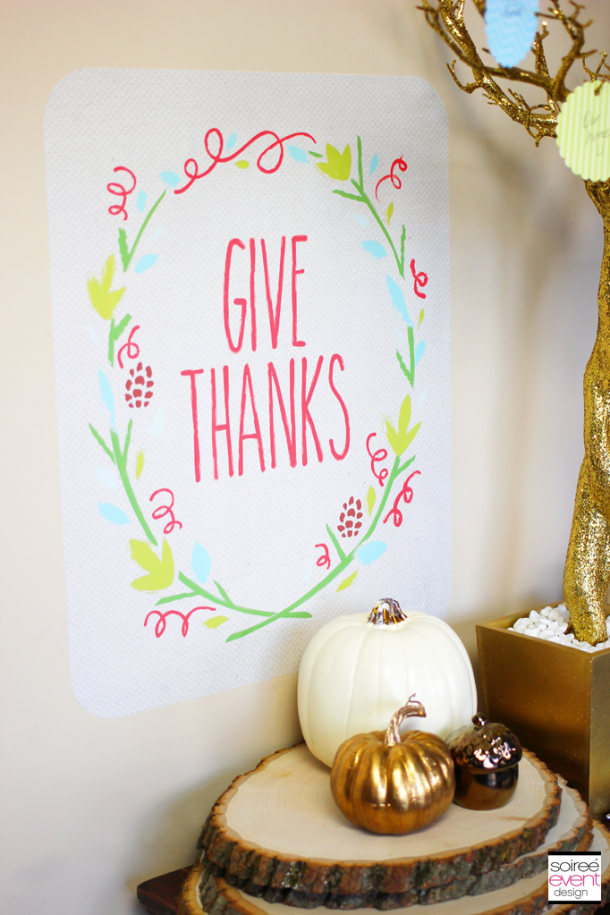 give thanks vinyl wall graphic