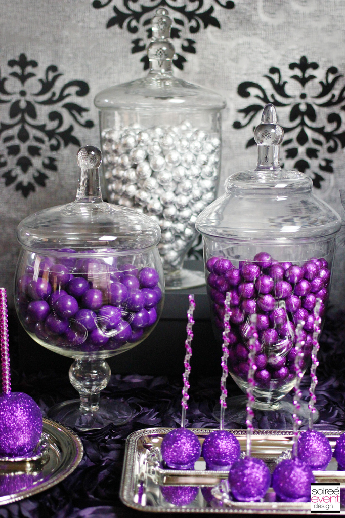 purple and silver candy