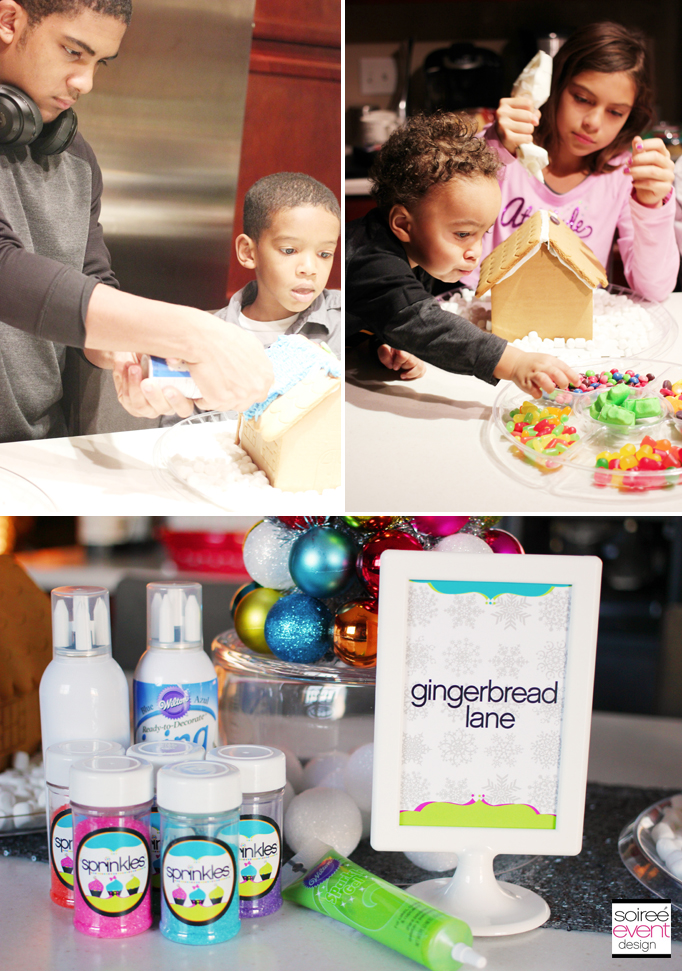 Decorating Gingerbread Houses 3