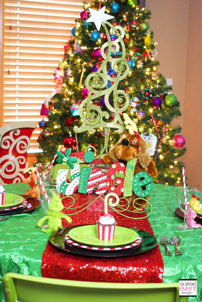 Setup A Grinch Themed Kid S Table For Christmas Dinner Soiree