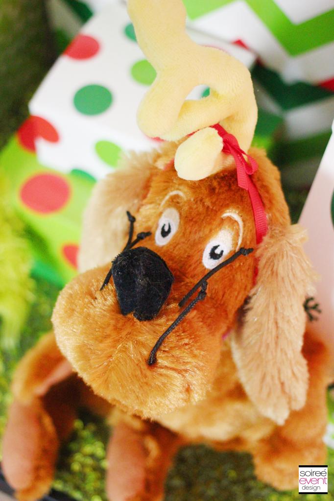Grinch dog stuffed animal