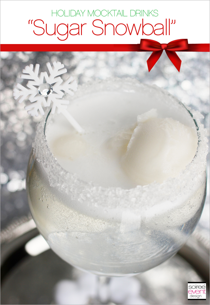 Holiday Mocktail Drinks Sugar Snowball