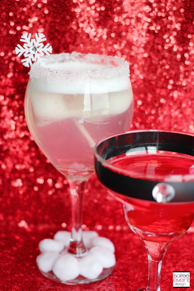 Holiday Mocktini drinks