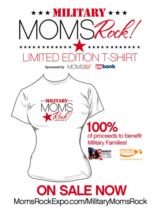 Limited Edition Military Moms Rock! T-shirt