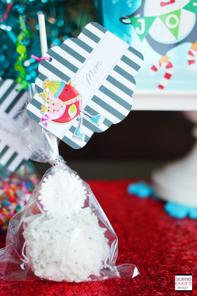 Oreo Cookie Ball gift tags
