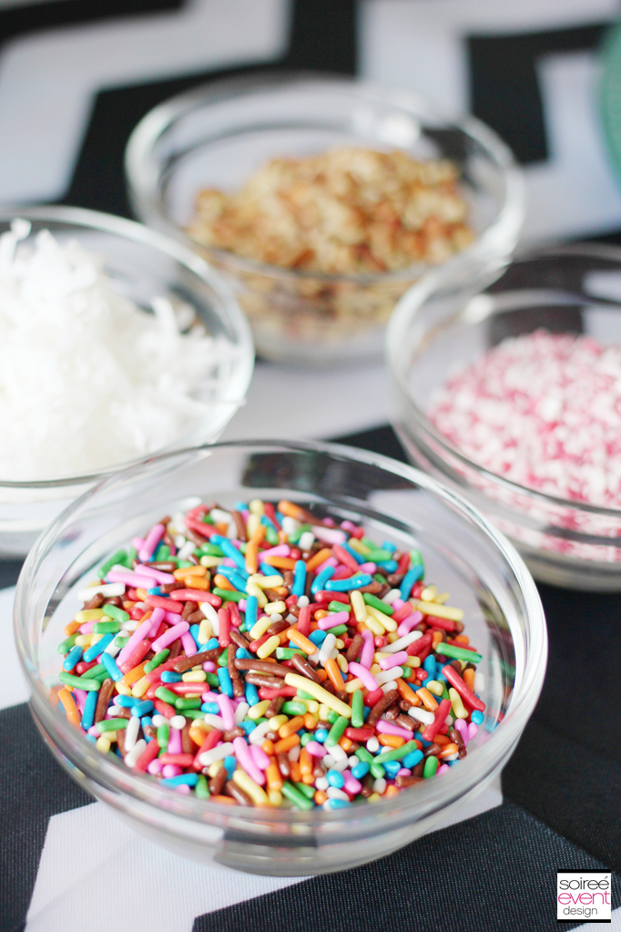 Oreo Cookie Balls Toppings